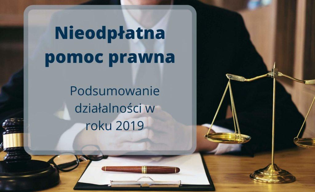 Nieodpłatna pomoc prawna - podsumowanie roku 2019 w fundacji Sancta Familia