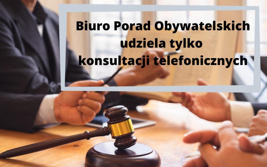 Biuro Porad Obywatelskich zostaje zamknęte na czas epidemii koronaawirusa